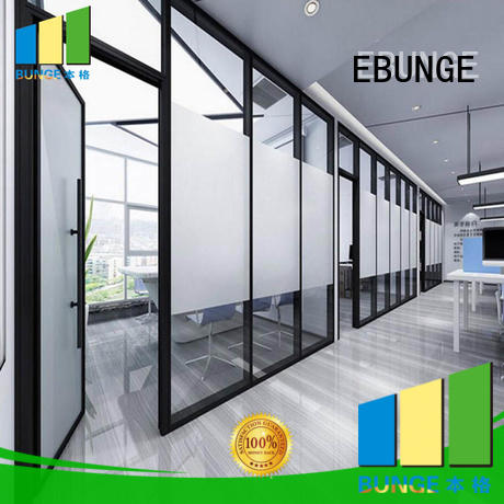 EBUNGE fireproof glass wall doors wholesale for office