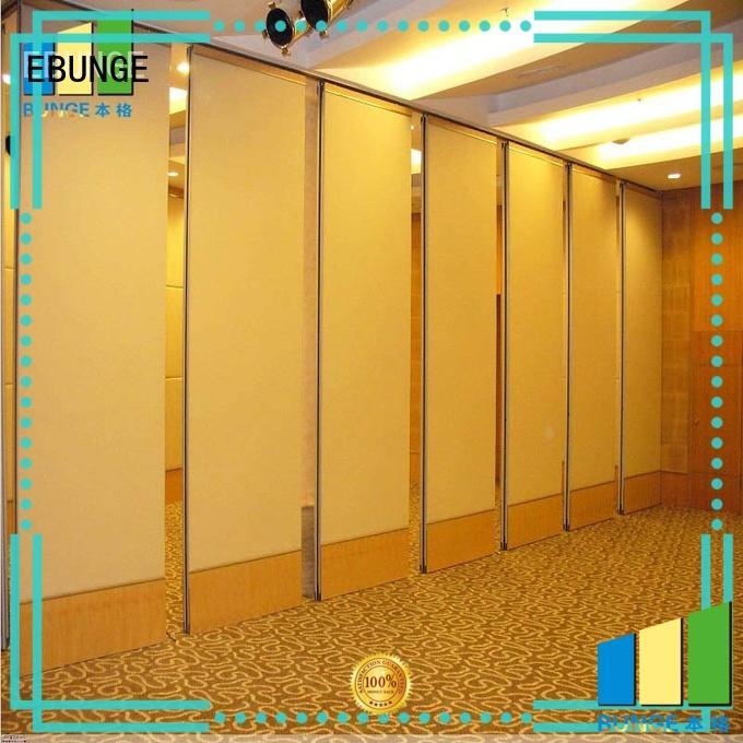 EBUNGE fireproof wooden partition design for restaurant
