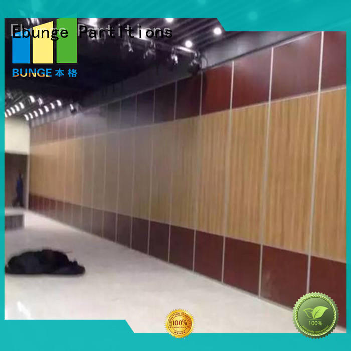 EBUNGE wooden acoustic operable walls supplier for banquet hall