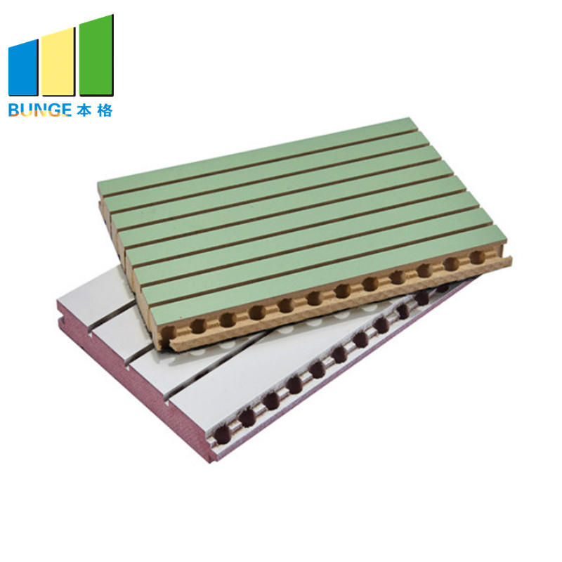 Bunge-Soundproof Wall Panels, Mdf Decorative Acoustic Wooden Grooved Ceiling-1