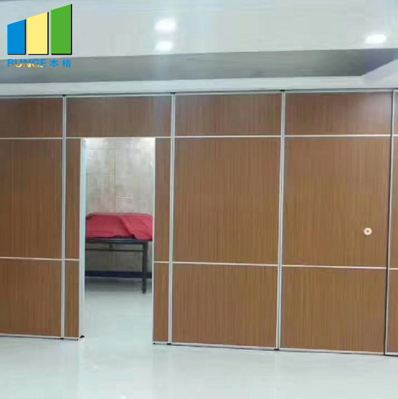 Folding Door Sliding Aluminium Track Acoustic Room Divider Hotel Movable Partition Wall-EBUNGE
