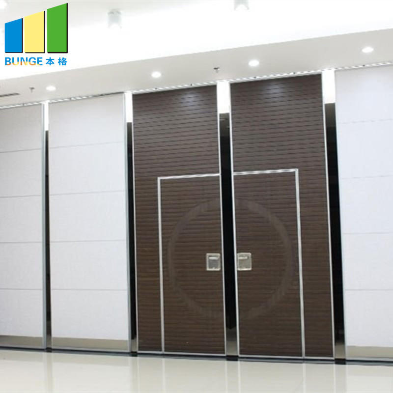Folding Door Sliding Aluminium Track Acoustic Room Divider Hotel Movable Partition Wall-movable wall, folding partition,operalbe wall-EBUNGE