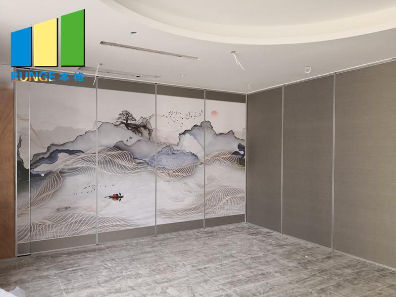 Bunge-Sliding Room Dividers Customized Melamine Finish Acoustic Operable Folding-14