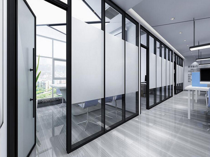 Bunge-Manufacturer Of Glass Partition Walls Interior Aluminum Frame Folding-1