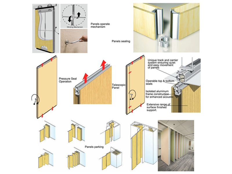 Bunge-Folding Room Dividers | Operable Wooden Soundproof Folding Hotel Partition-5