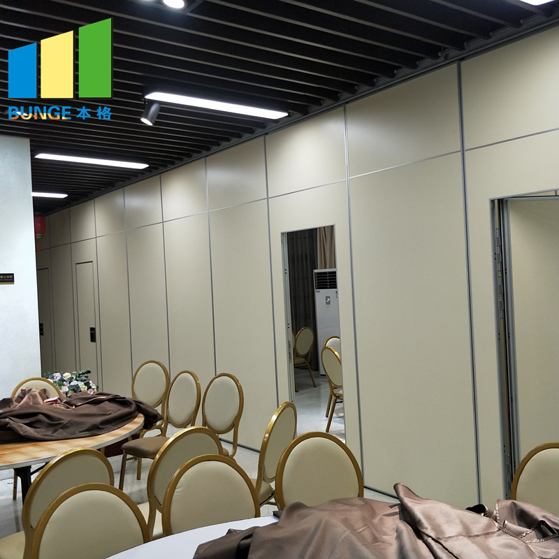 Bunge-Folding Room Dividers | Operable Wooden Soundproof Folding Hotel Partition-4
