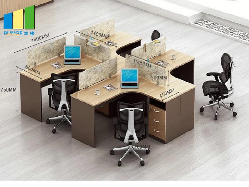 Bunge-Best Wooden Workstation Office Furniture 4-6 Person Office Desks