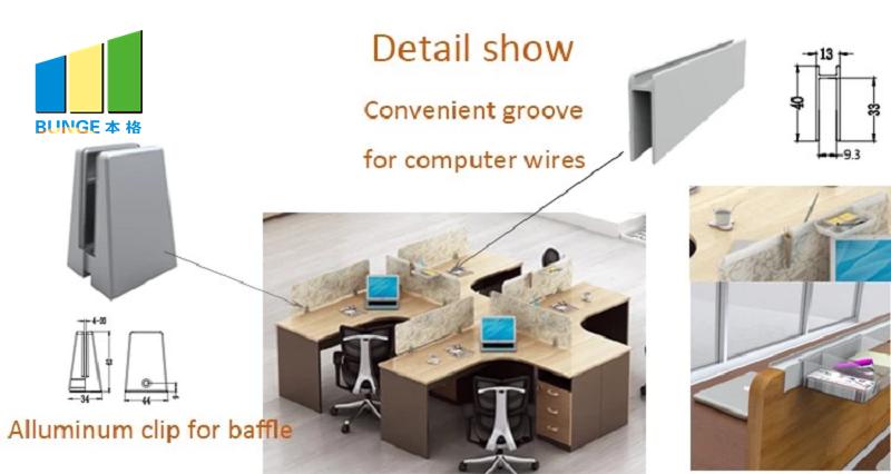 Bunge-Best Wooden Workstation Office Furniture 4-6 Person Office Desks-1