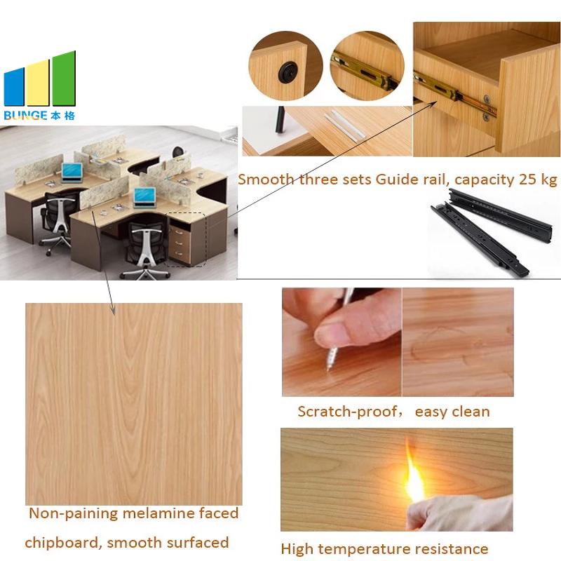 Bunge-Best Wooden Workstation Office Furniture 4-6 Person Office Desks-3