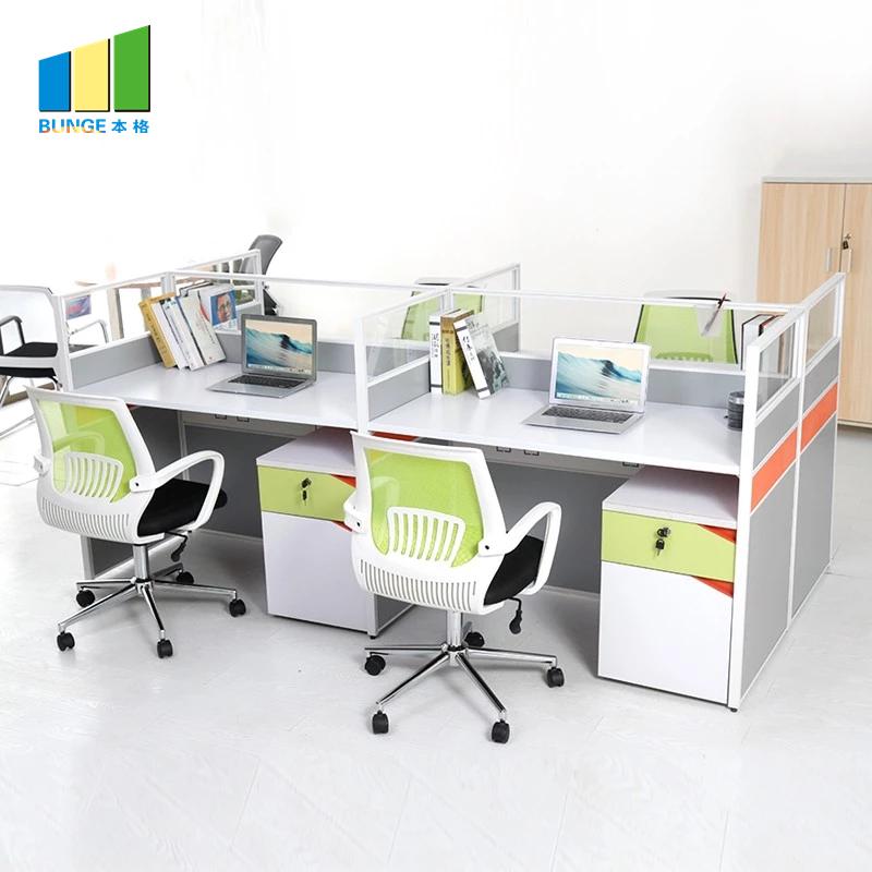 Bunge-Best Wooden Workstation Office Furniture 4-6 Person Office Desks-4