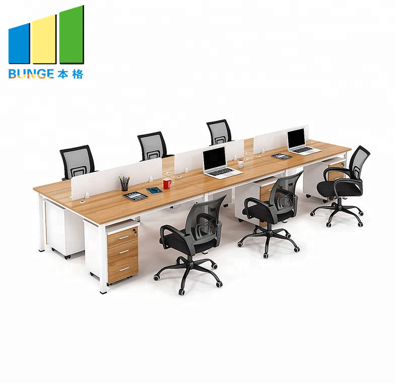 Modern Design BUNGE Office Furniture Factory,MDF Custom Office Workstations/Desks