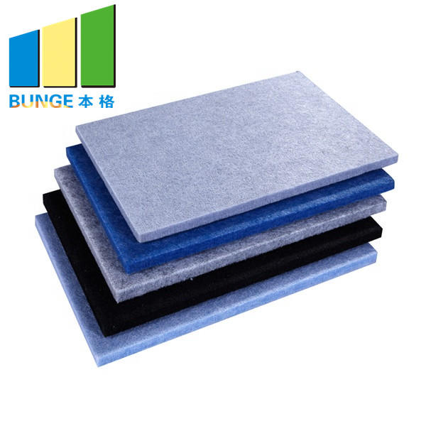 Studio Eco Friendly Sound Absorbing Polyester Fiber Acoustic Wall Panels