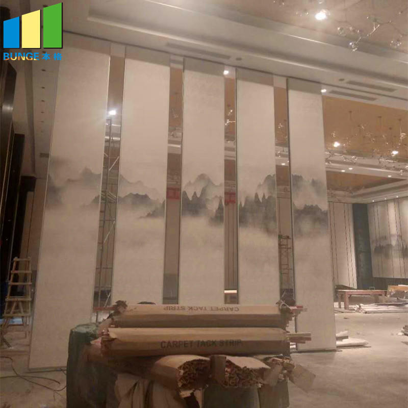 product-Aluminium Frame Sound Proof Hotel Removable Acoustic Partition Wall-EBUNGE-img-1