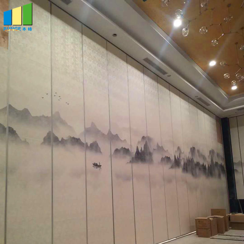 Aluminium Frame Sound Proof Hotel Removable Acoustic Partition Wall-EBUNGE