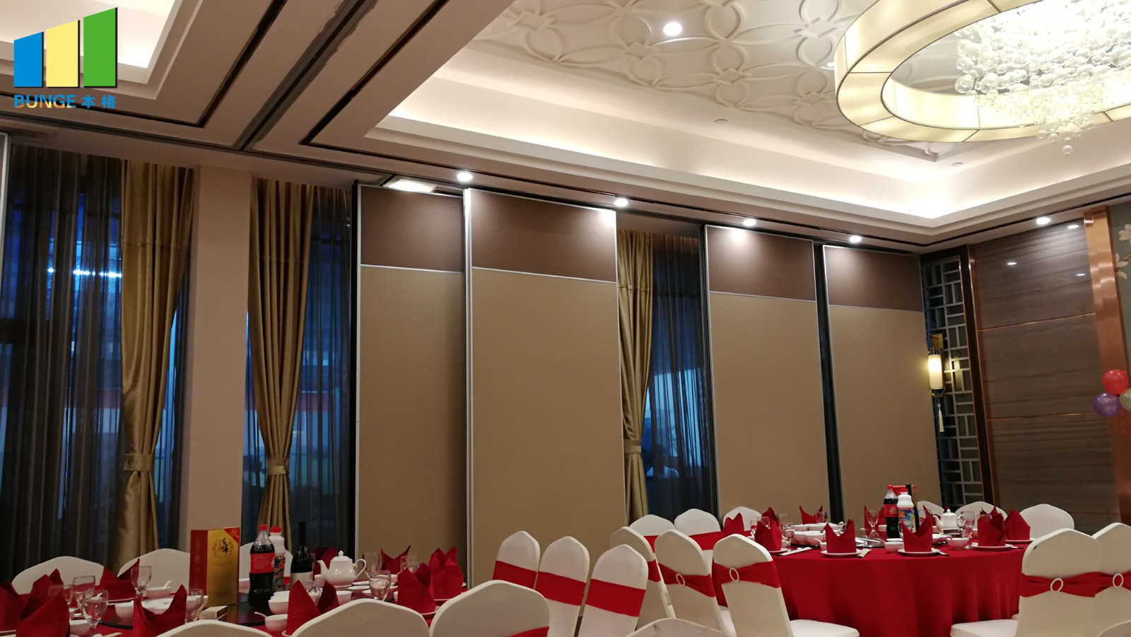 Bunge-Find Operable Partition Walls Soundproof Material Sliding Aluminium Track-14