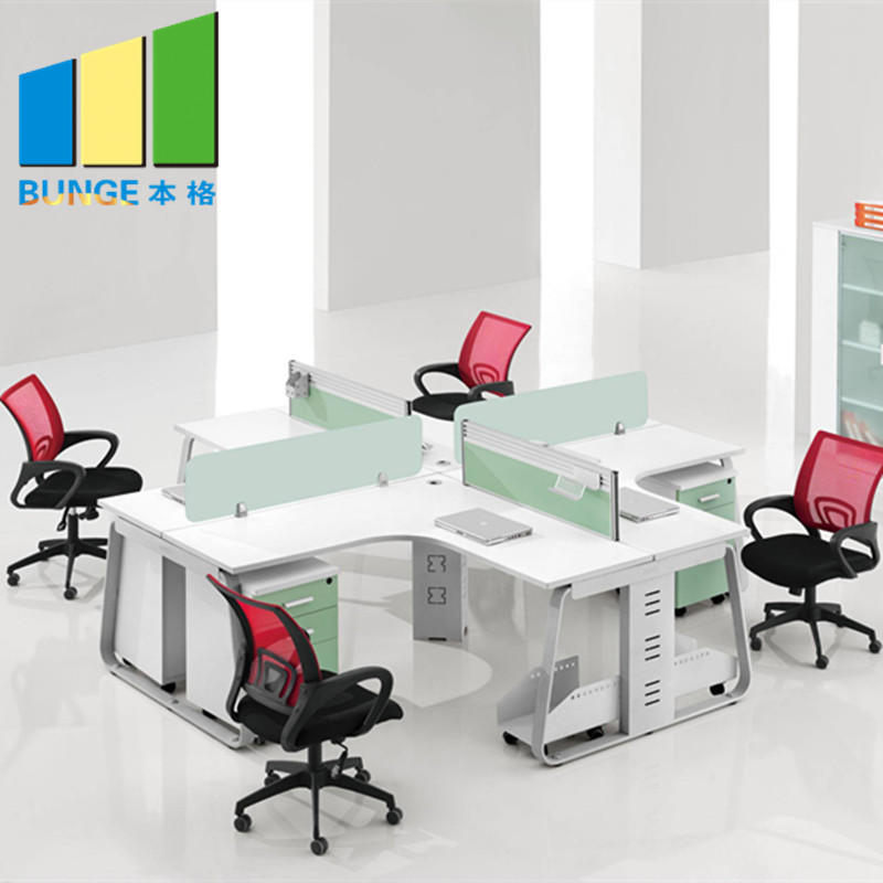 Cusomized Green Material Modular Furniture Office Workstation for 4 Person-movable wall- folding partition-operalbe wall-EBUNGE