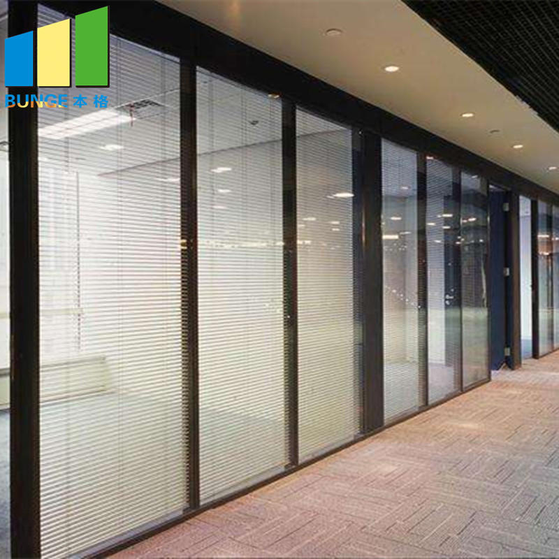 Interior Temper Fixed Office Partition Walls Full Height Solid Glass Partitions