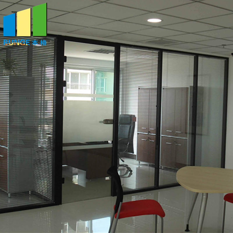 product-EBUNGE-Interior Temper Fixed Office Partition Walls Full Height Solid Glass Partitions-img