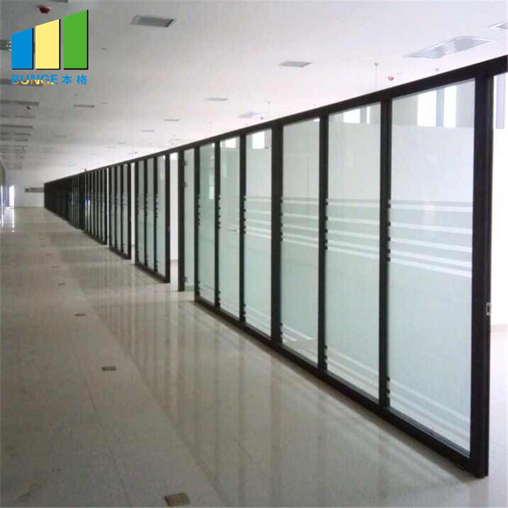EBUNGE commercial glass door divider supplier for conference room