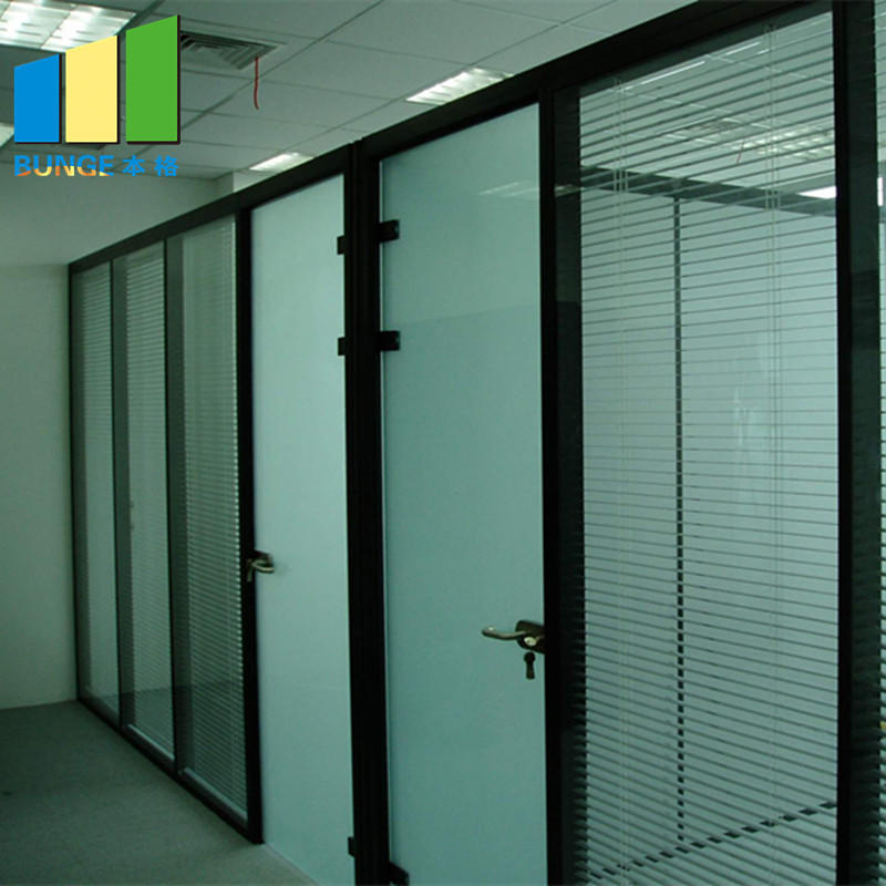 Conference Room Aluminum Alloy Frame Fixed Double Solid Office Glass Partitions-movable wall, folding partition,operalbe wall-EBUNGE