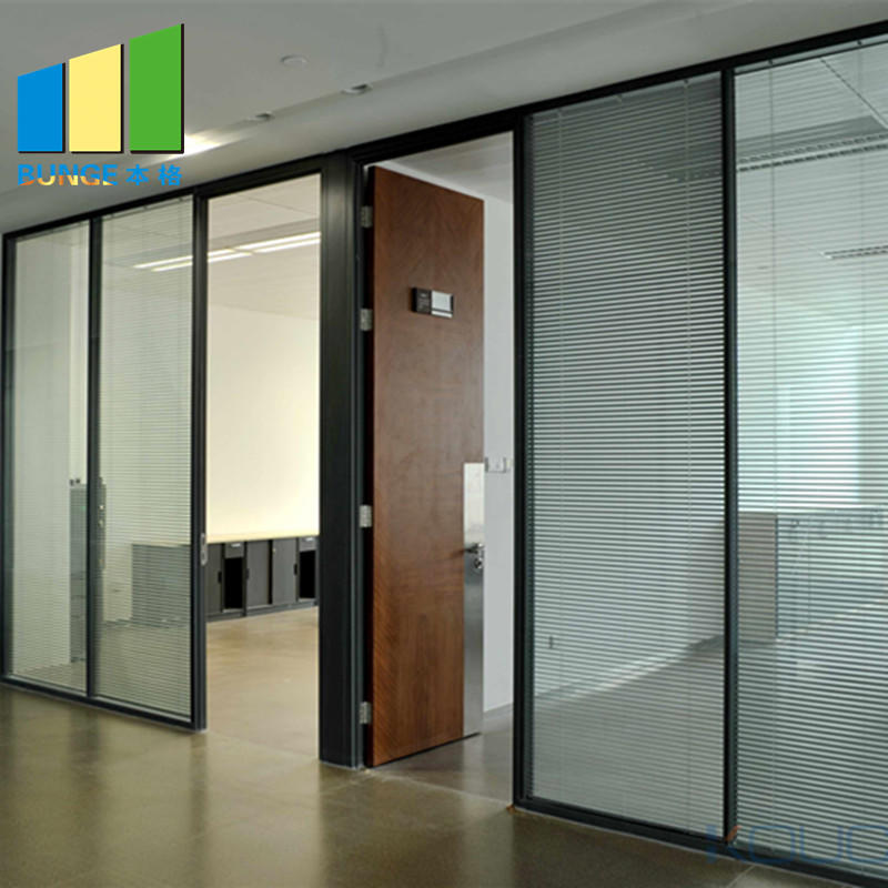 demontable toughened glass partition series for office