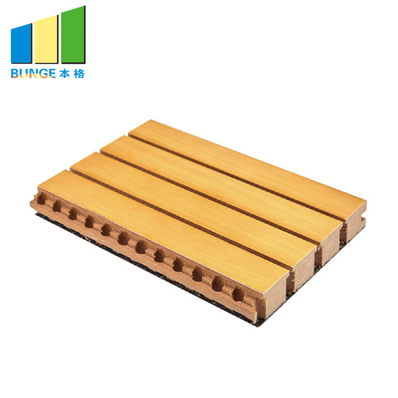 Bunge-Sound Absorbing Panels, Sound Diffuser Mdf Board Wooden Grooved Acoustic-1