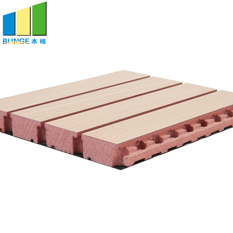 Bunge-Sound Absorbing Panels, Sound Diffuser Mdf Board Wooden Grooved Acoustic