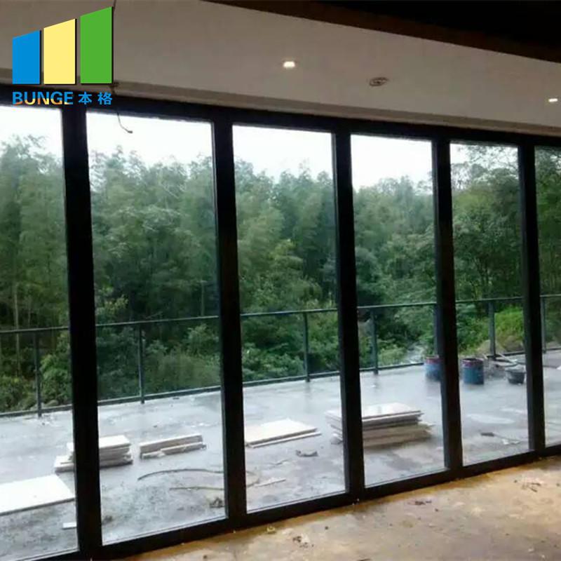 Sliding Aluminium Frame Office Movable Glass Partition Wall-movable wall, folding partition,operalbe wall-EBUNGE