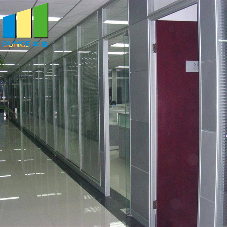 Bunge-Frameless Glass Wall, Aluminium Frame Decorative Tempered Office Solid-1