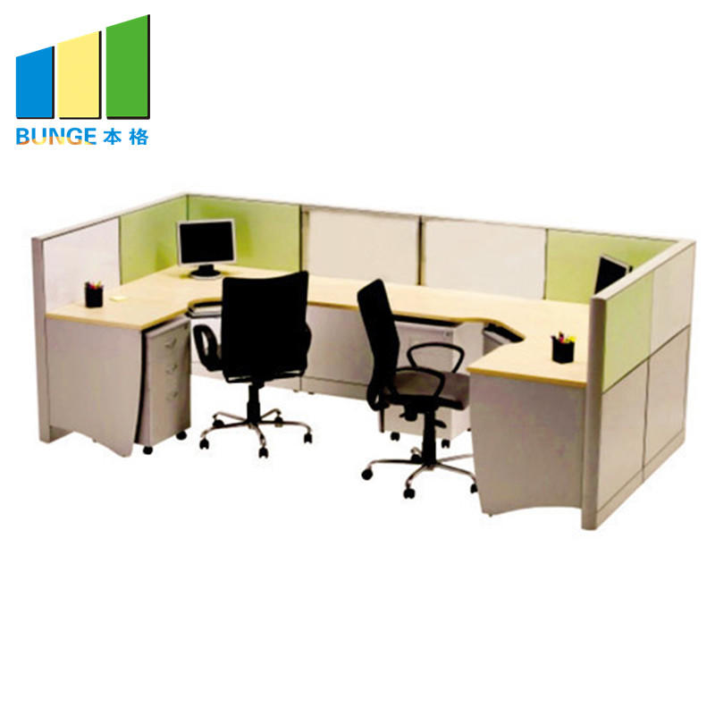 4-8 Person Modular Office Face to Face Computer Tables Cubicles Workstations Furniture