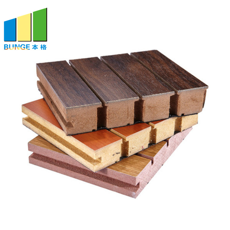 Bunge-Wall Sound Panels Wooden Acoustic Wall Boards Material For Auditorium-1