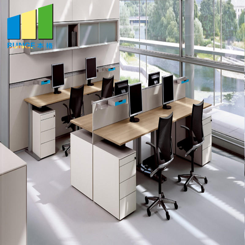 product-EBUNGE-Aluminum Partitions Melamine Modern Office Desk Workstations-img