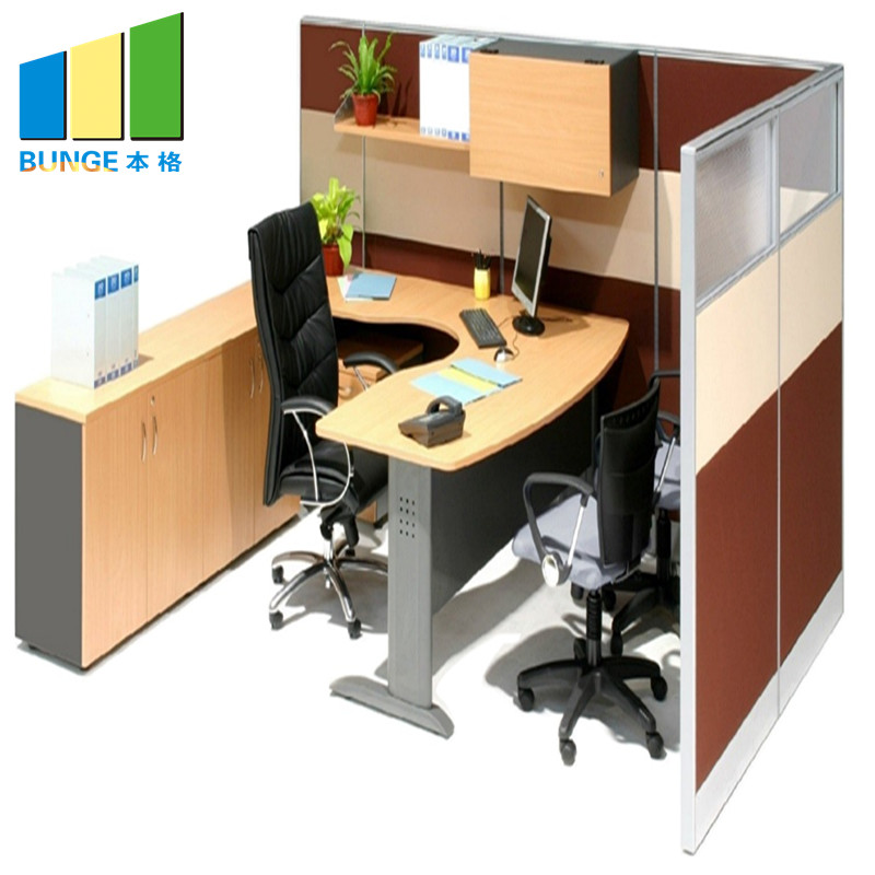Bunge-4 Person Workstation Desk Manufacture | Aluminum Partitions Melamine Modern