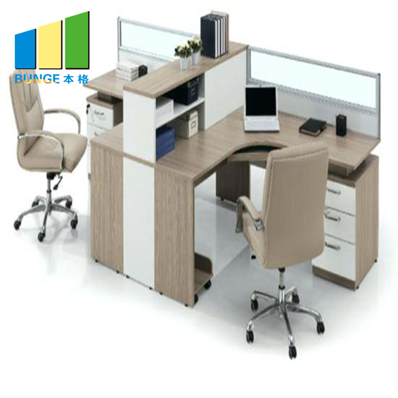 Bunge-4 Person Workstation Desk Manufacture | Aluminum Partitions Melamine Modern-1