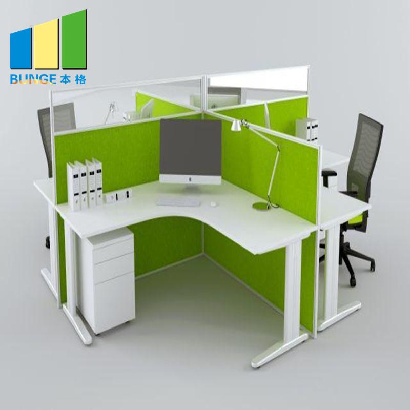 Bunge-Pc Workstation Desk, New Modern Metal Frame Modular Furniture 2-6 Person