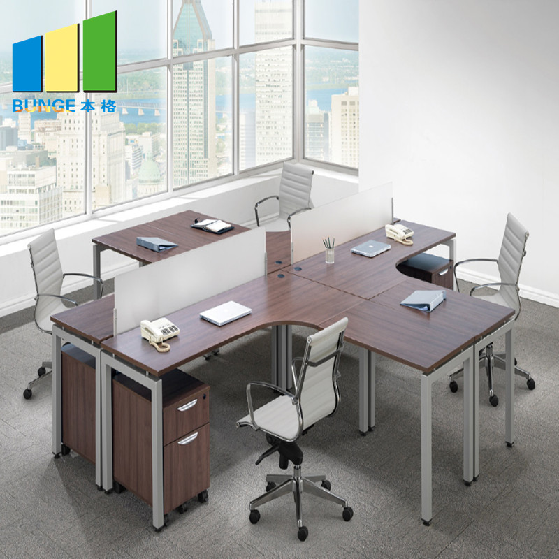 Bunge-Pc Workstation Desk, New Modern Metal Frame Modular Furniture 2-6 Person-1
