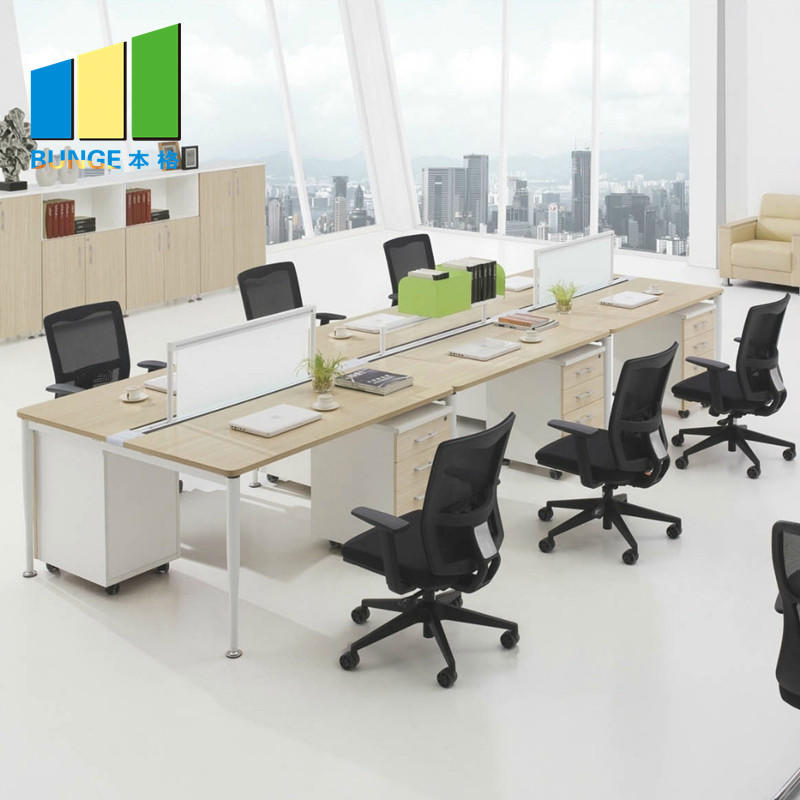 Free Standing 4-8 Seater Furniture Flexible Modular Office Workstations For Staff ISO9001-EBUNGE