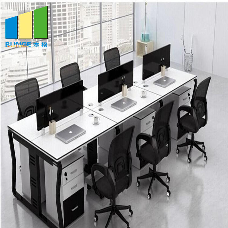 Anti - Water Office Furniture Partitions / 4 Person Office Workstations with Cubicles