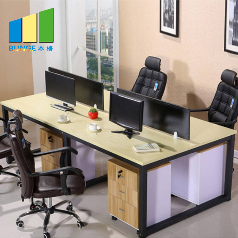 Bunge-Manufacturer Of 4 Person Workstation Desk Anti - Water Office Furniture-1