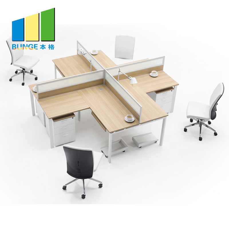 Bunge-Manufacturer Of 4 Person Workstation Desk Anti - Water Office Furniture-5