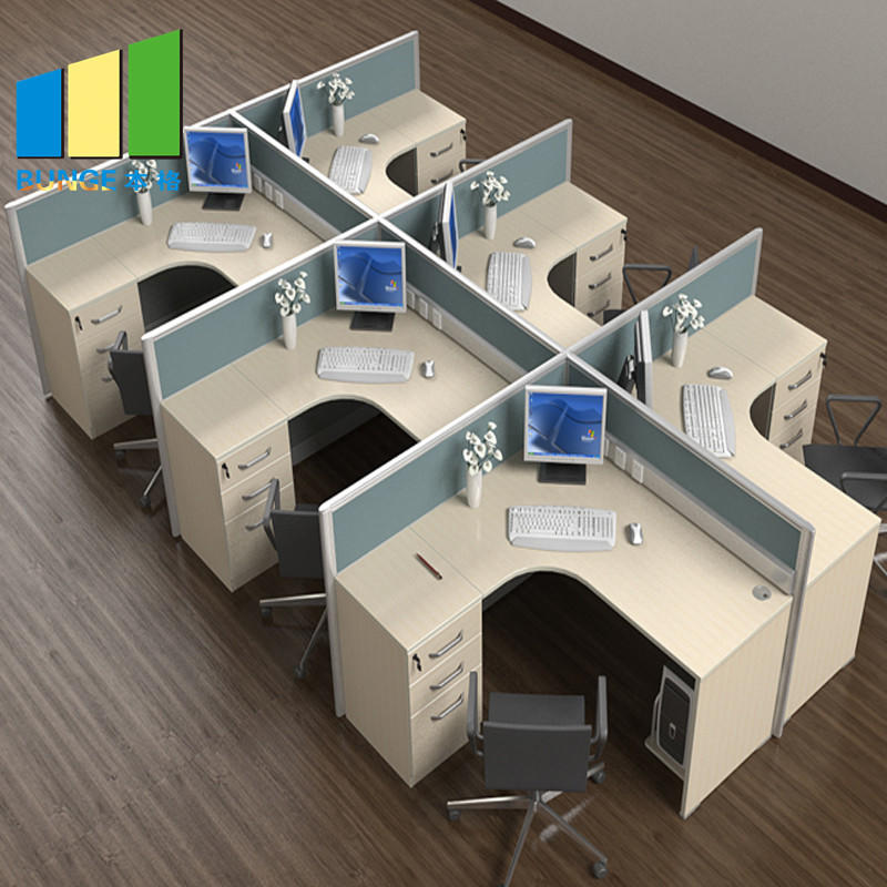 Anti - Dirty School And Office Furniture Partition Walls , 4-6 Person Office Desks