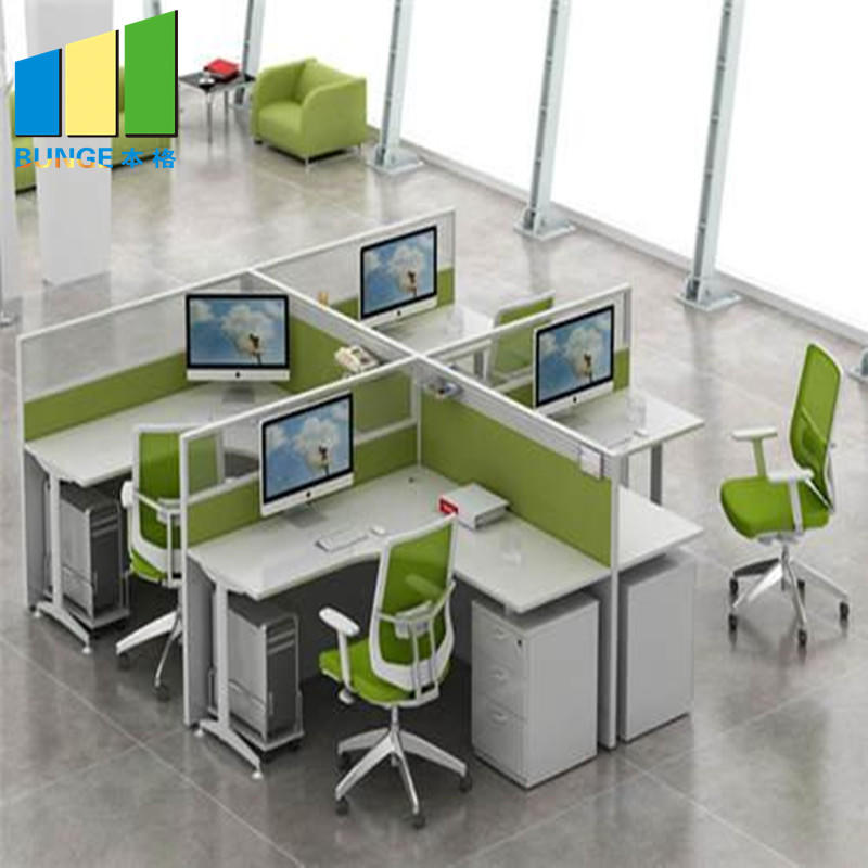 Full High Office Furniture Partitions / L & T Shaped Office Workstation Tables