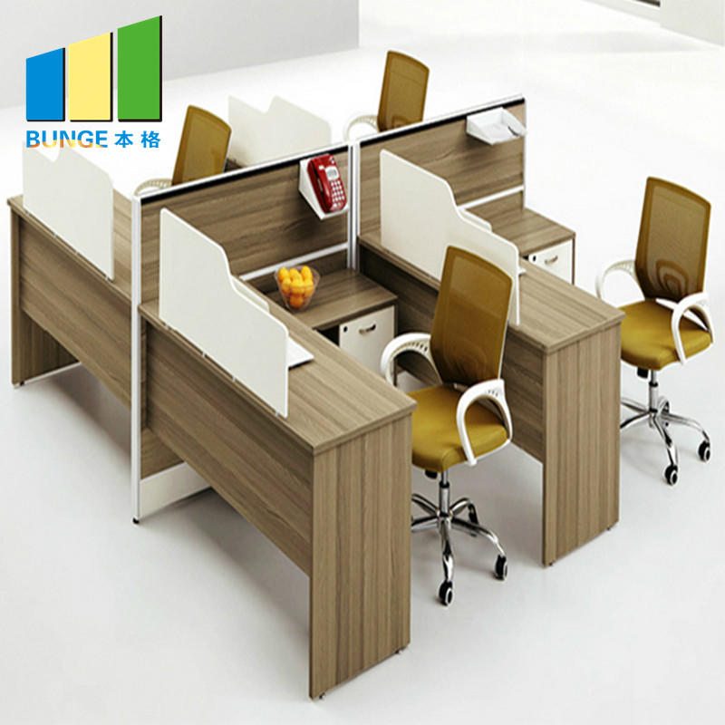 Water Proof Standard Office Furniture Partitions Table With Drawers Two - Six Office Desk Dividers