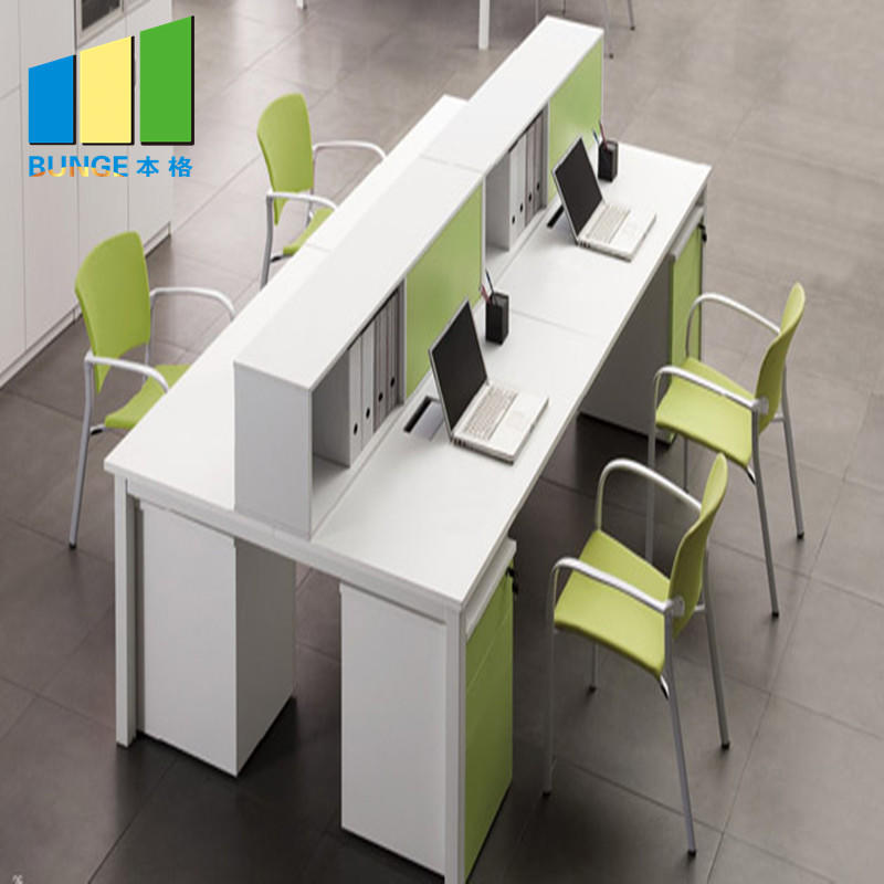 Aluminum Frame Frosted Glass Office Partition Cubicles Office Workstations
