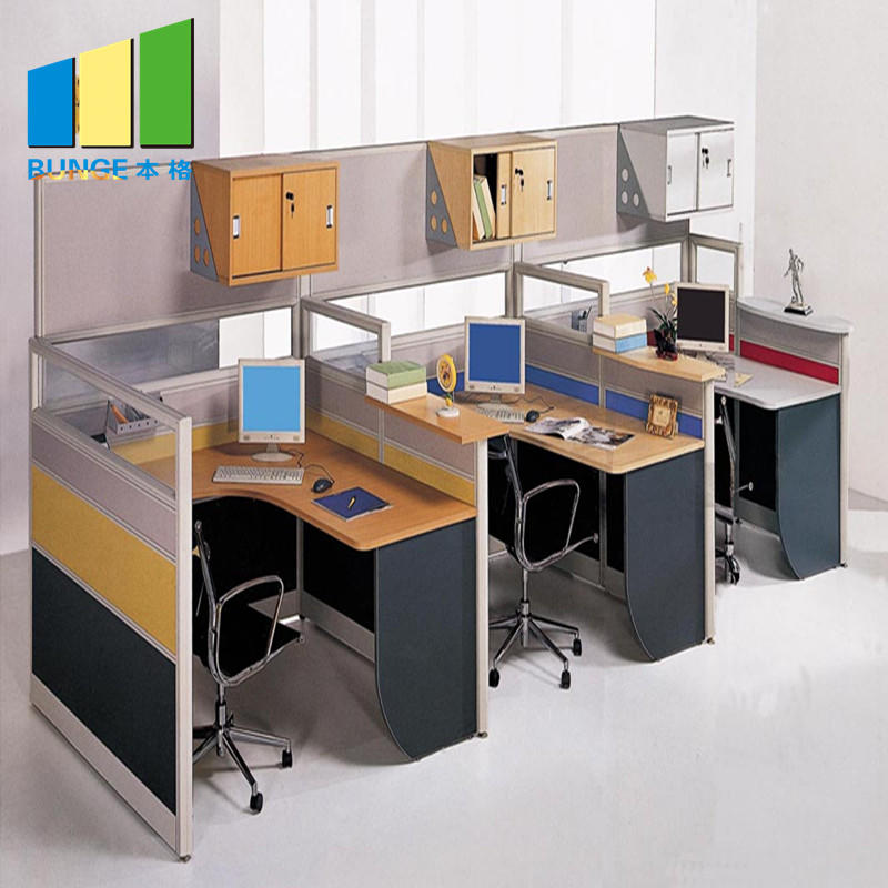 Modular office desks,6 person office partitions,4 seat office workstations-EBUNGE
