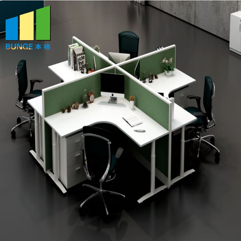 Bunge-Find Office Computer Table Modular Office Desks,6 Person Office Partitions