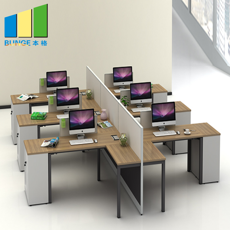 Bunge-Find Office Computer Table Modular Office Desks,6 Person Office Partitions-1