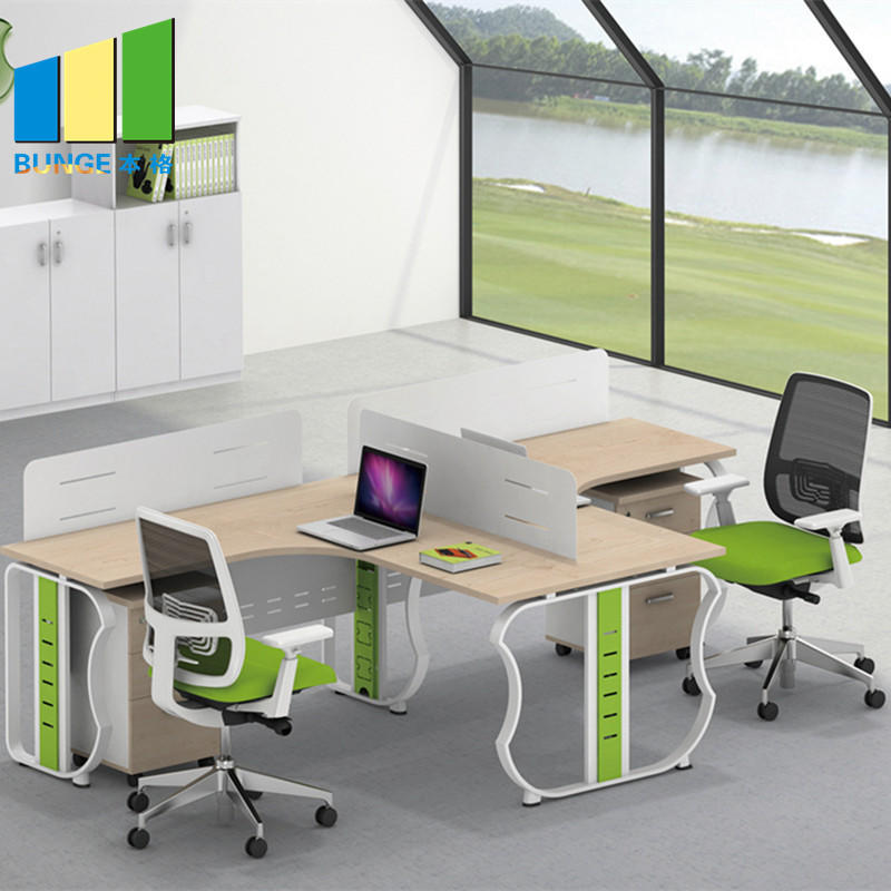 product-Contemporary Furniture Modular Partition Cubicle Office Workstation for 4 Seater-EBUNGE-img-1