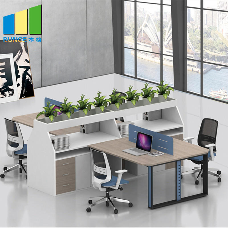 product-EBUNGE-Contemporary Furniture Modular Partition Cubicle Office Workstation for 4 Seater-img
