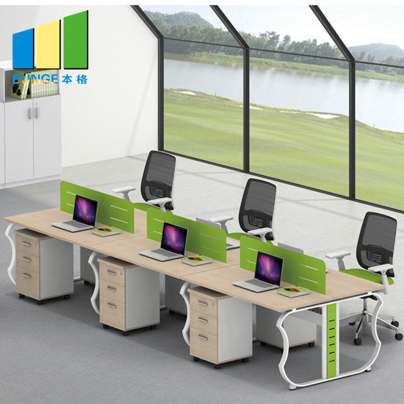 Modern Type Furniture 4 Seat Office Partition Cubicle Workstation-EBUNGE